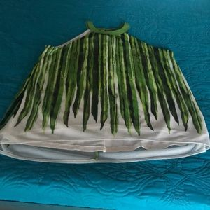 The Limited Green/white Top. NWT